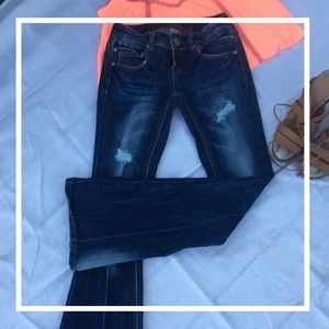 ALMOST FAMOUS Low-rise, Skinny-flare leg jeans